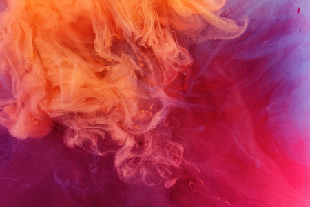 color ink  mix in water abstract wallpaper Stock Photo