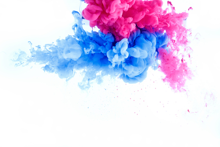 abstract splash wallpaper background from ink color mix in water