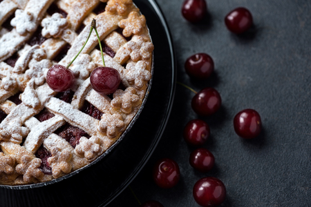 delicious summer dessert- pie with cherries