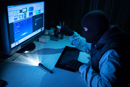 burglar hacker entered password from paper  to broke into a computer