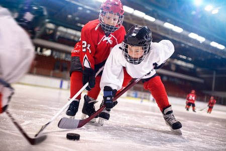 ice hockey sport young kids players