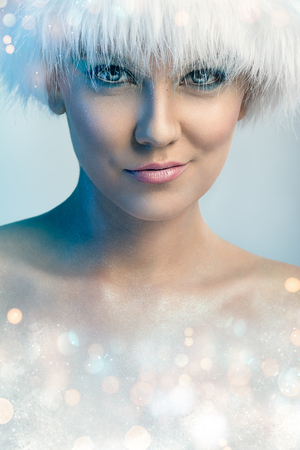 Beauty lady with winter hat Stock Photo