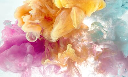 abstract wallpaper background from pastel ink color mix in water Stock Photo