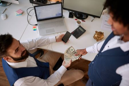 A business deal in investing money