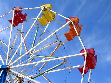 going nowhere: Ferris wheel Stock Photo