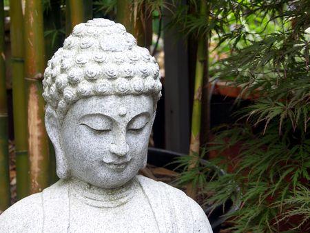 Buddha in Bamboo Garden photo