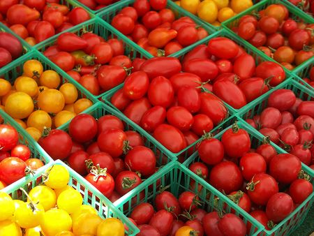 Tomato Baskets Stock Photo