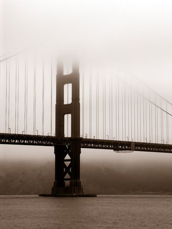 Golden Gate Bridge Sepia