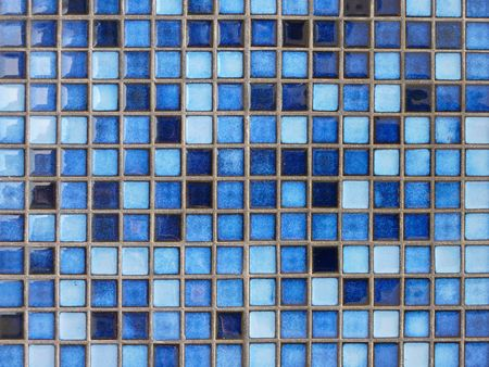 Blue square tiles Stock Photo
