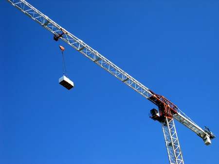 Big construction crane