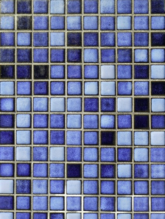 bathroom tile: Blue ceramic tiles, horizontal
