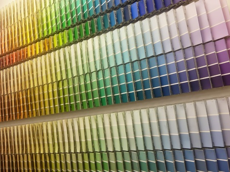 Paint swatches Stock Photo