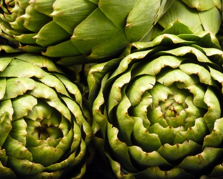Close up of fresh  artichokes Stock Photo