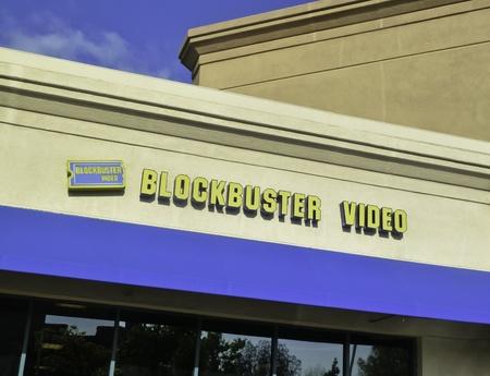 pleasant: Pleasant Hill, California, April 10, 2011 - Exterior view of Blockbuster Video Store.