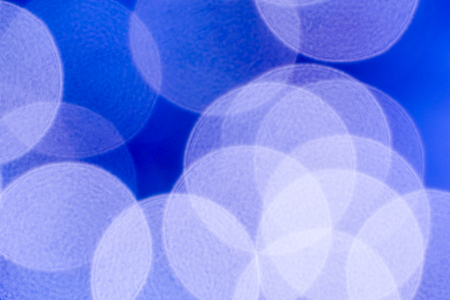 Blue background of big bokeh circles. Stock Photo