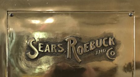 Retro Sears Roebuck metal sign Editorial