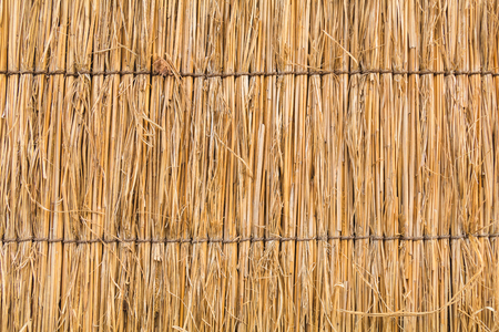 detail of Japanese thatched roof texture background Stock Photo