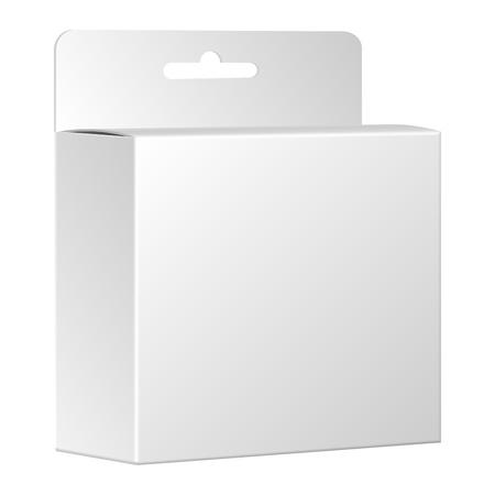 Product pakket doos Vector, geïsoleerd op witte achtergrond Stock Illustratie