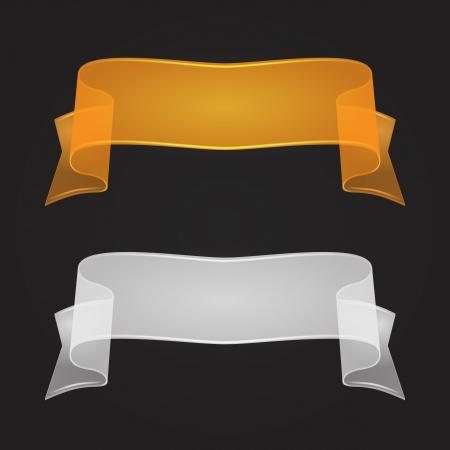 Transparent Silk Or Glass Ribbon Set.