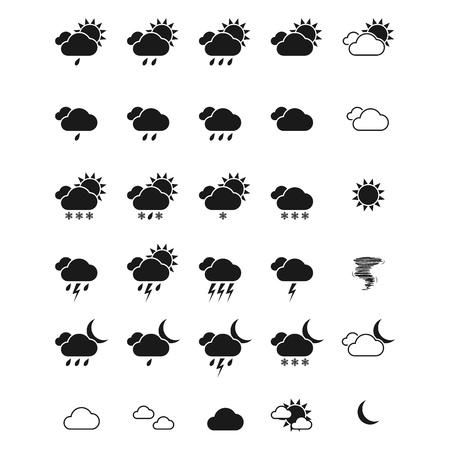 Weather icon set.  イラスト・ベクター素材