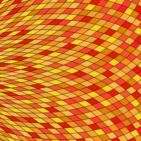 Orange Yellow Abstract Background    Vector