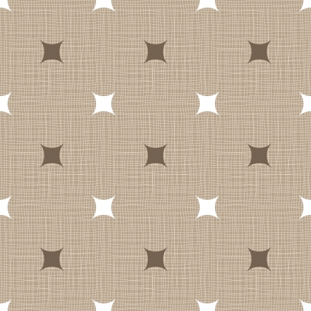 Seamless retro pattern. Linen. Vintage background.  Vector