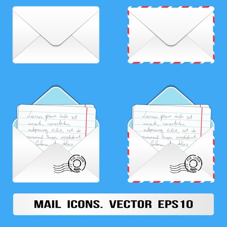 E Mail Icons Set  Vector Vector