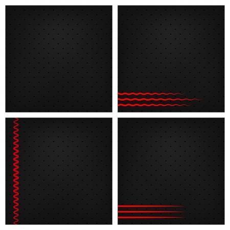 Black Background Set  Stock Vector - 18633851