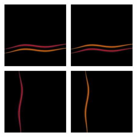 Black Background Set With Waves  Vector eps10 Stock Vector - 18633710