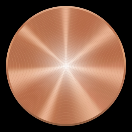 Realistic copper button  Vector eps10  Isolated
