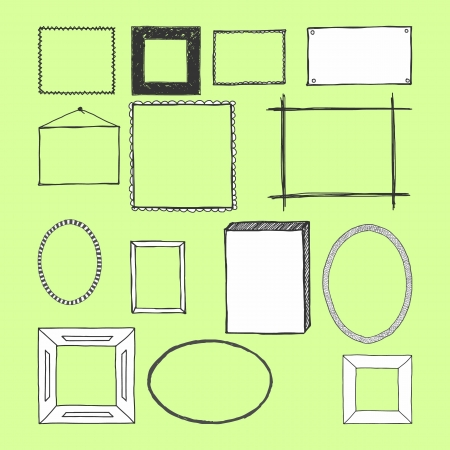Hand Drawn Frames  Doodles  Isolated  Vector Stock Vector - 18633545
