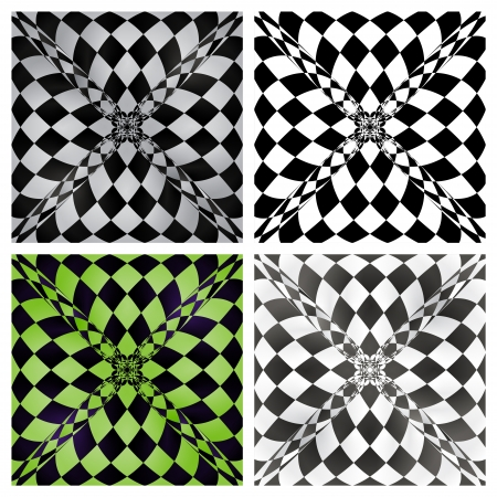 Abstract checkered background set Stock Vector - 18633635