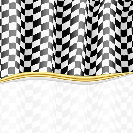 Drapeau à damier Contexte Racing Vecteurs