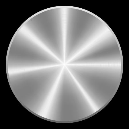 Realistische geborsteld metalen knoop Vector eps10 Geïsoleerde Stock Illustratie
