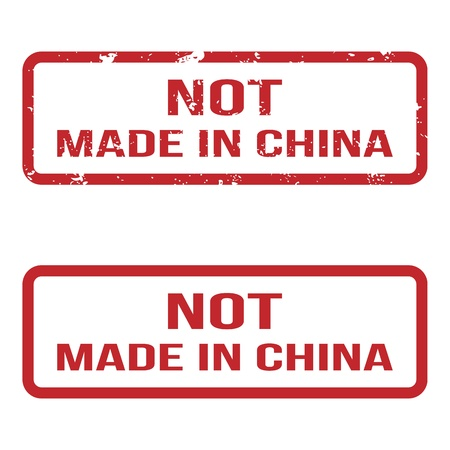 Not Made In China  Grunge Rubber Stamp Set  For Any Background  Vector illustration Stock Vector - 18633501