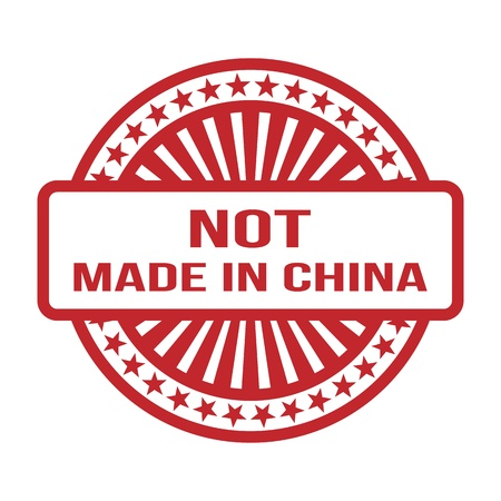 Not Made In China  Red Rubber Stamp  For Any Background  Vector illustration Stock Vector - 18633478