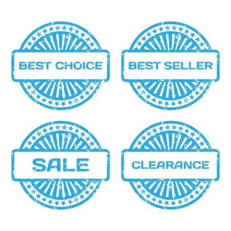 Grunge Rubber Stamp Set  Sale, best seller, best choice, clearance text  Vector illustration Stock Vector - 18633788