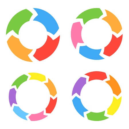 lifecycle: Color Circle Arrows  Illustration