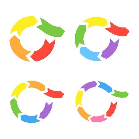 Color Circle Arrows Ilustração