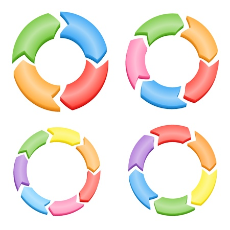 Color Circle Arrows Vector