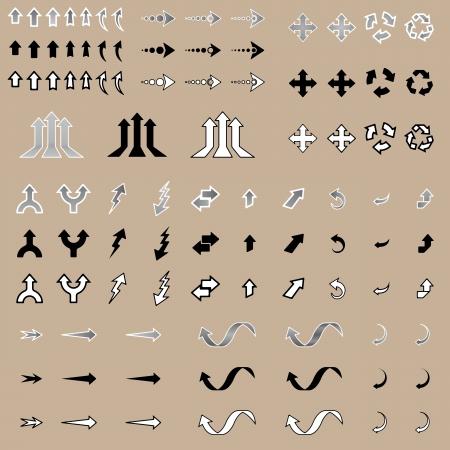 Arrow Stickers Stock Vector - 18814444