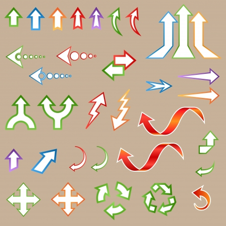 Arrow Stickers Set Stock Vector - 18814413