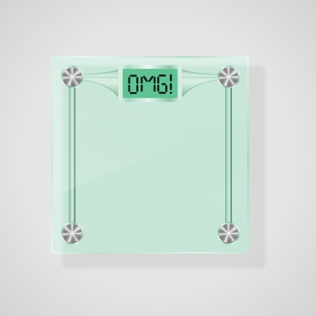 Transparent Glass Scales With OMG  Text  Weight Loss Concept Stock Vector - 18814476
