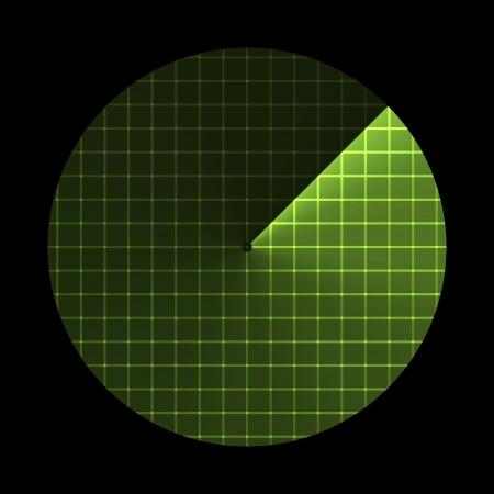 sonar: Radar screen, sonar icon illustration Illustration