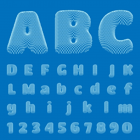 BluePrint Alphabet Stock Vector - 18814503
