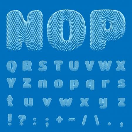 BluePrint Alphabet Stock Vector - 18814496