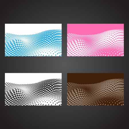 Abstract halftone business cards  Set template Stock Vector - 18814509