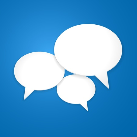 talking: Speech Bubble Background Illustration