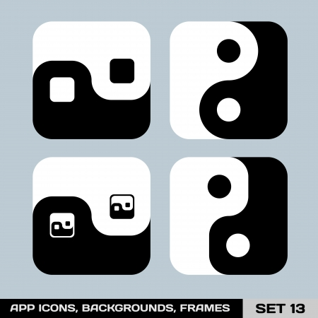 yang ying: Set Of App Icon Backgrounds, Frames, Templates  Set