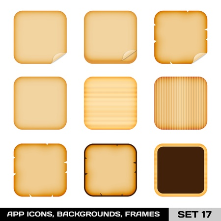 Set Of Colorful App Icon Frames, Templates, Backgrounds  Vector
